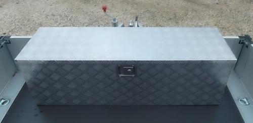 alu riffelblech alubox staubox deichselbox werkzeugkasten anh nger 123 x 38 x 38 ebay. Black Bedroom Furniture Sets. Home Design Ideas
