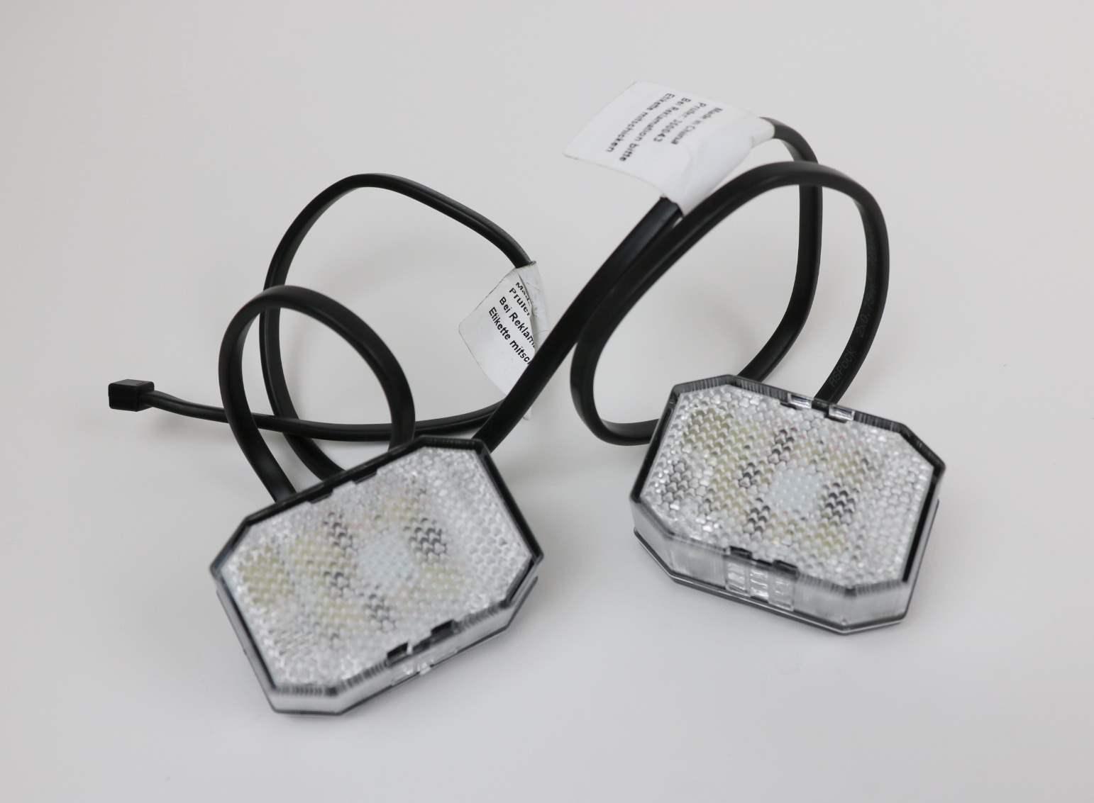 9 x Aspöck Flexipoint LED Marker Light Red/White Light Lamp Car ...